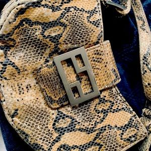 Designer Vintage Mini Bag Trendy Python Pouchette